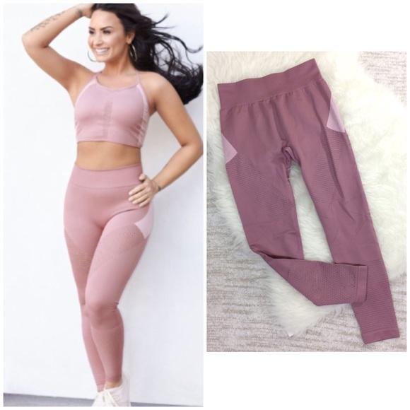 067fbc1a8b654 Fabletics Pants - Fabletics Demi Lovato Seamless Blush Pink Leggings